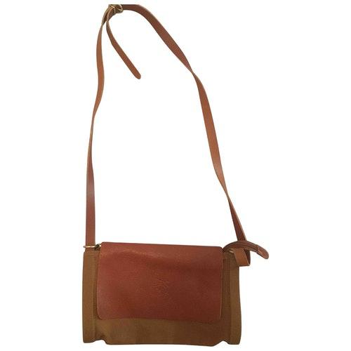 Il Bisonte Camel Cloth Handbag