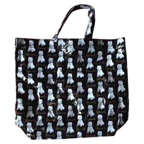 Harrods Black Patent Leather Handbag