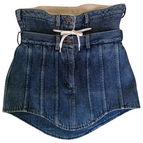 Y/project Blue Denim - Jeans Skirt