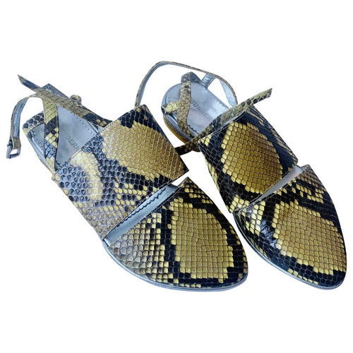 Wunderkind Yellow Water Snake Sandals