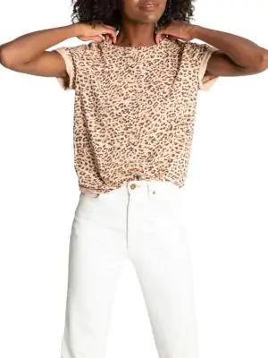 N:philanthropy Jigsaw Bff Leopard T-shirt In Mocha Leopard