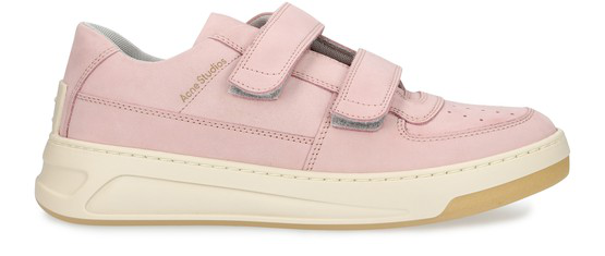 Acne Studios Steffey Touch Fastening Sneakers In Pink
