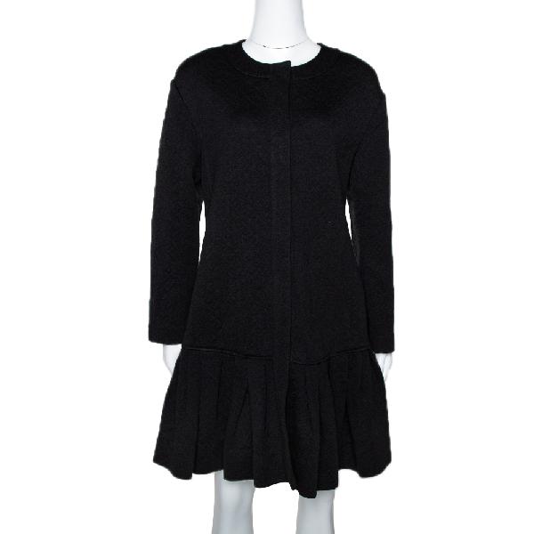 Diane Von Furstenberg Balck Wool Blend Ballencya Jacket S In Black