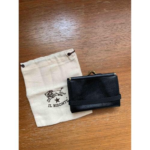 Il Bisonte Black Leather Wallet
