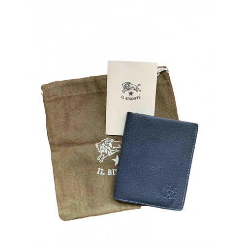 Il Bisonte Grey Leather Purses, Wallet & Cases
