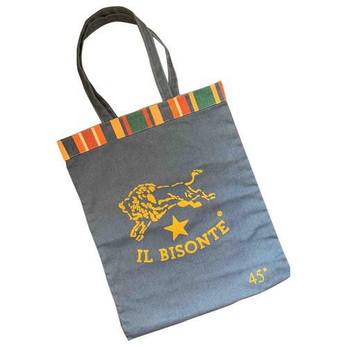 Il Bisonte Blue Denim - Jeans Handbag