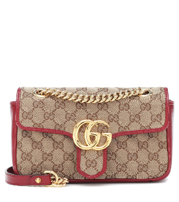 Gucci Gg Marmont Mini Shoulder Bag In Brown