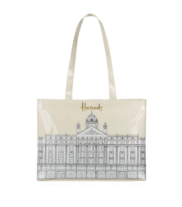 Harrods Illustrated Building Shoulder Bag