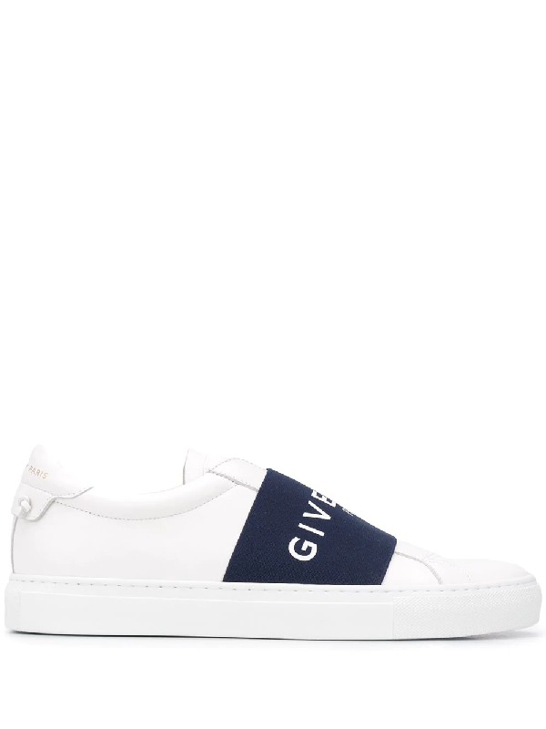 Givenchy Urban Street Leather Sneakers With Elasticated Insert And Logo In White