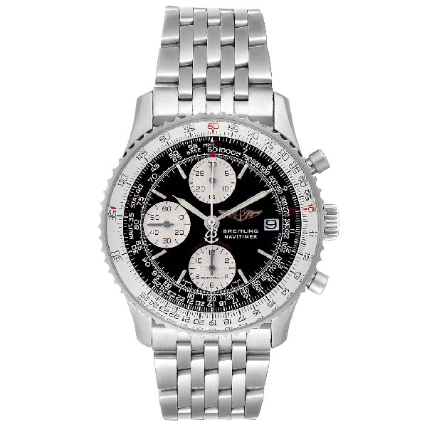 Breitling Navitimer Fighter Chronograph Steel Mens Watch A13330 In White