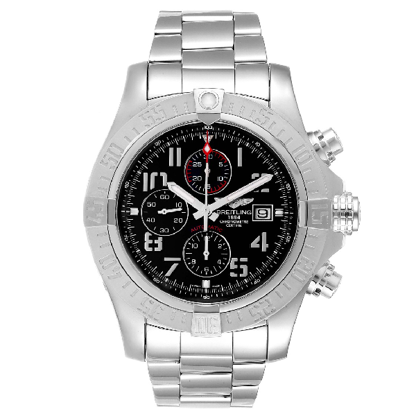 Breitling Aeromarine Super Avenger Steel Mens Watch A13371 Box Papers In Metallic