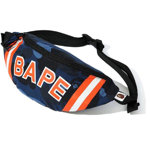 Bape Color Camo Waist Bag (ss20) Navy