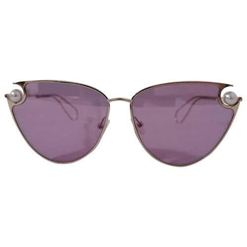 Christopher Kane Purple Metal Sunglasses