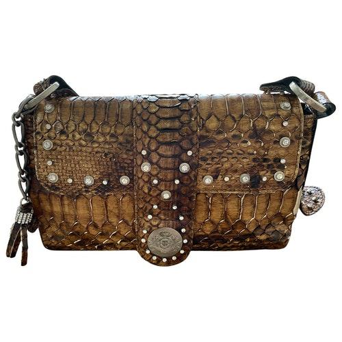 Luis Onofre Brown Python Handbag