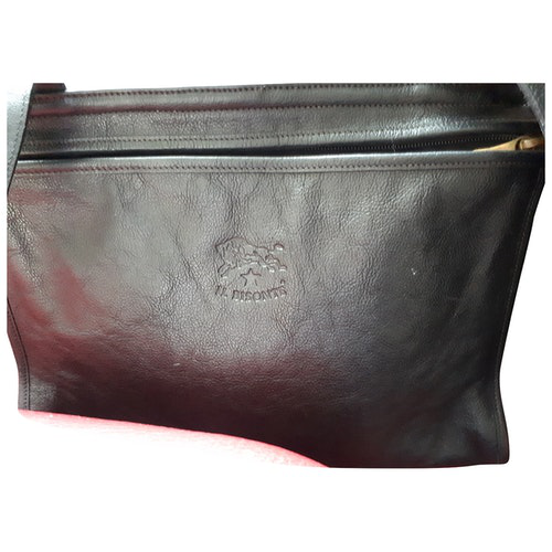 Il Bisonte Black Leather Handbag