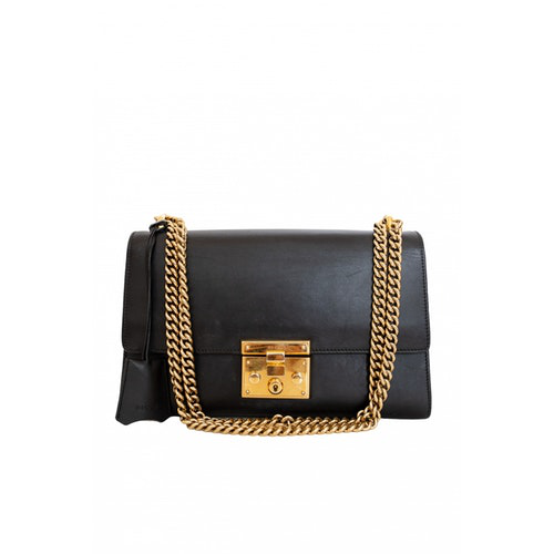 Gucci Padlock Black Leather Handbag