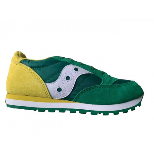 Saucony Green Suede Trainers