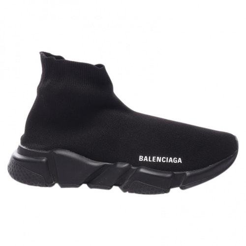 Balenciaga Black Velvet Flats