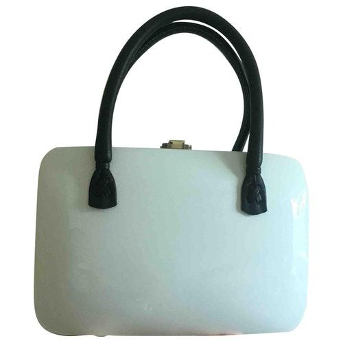 Rocio White Leather Handbag