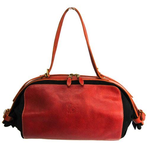 Il Bisonte Black Leather Handbag