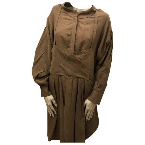 Vanessa Bruno Brown Cotton Dress
