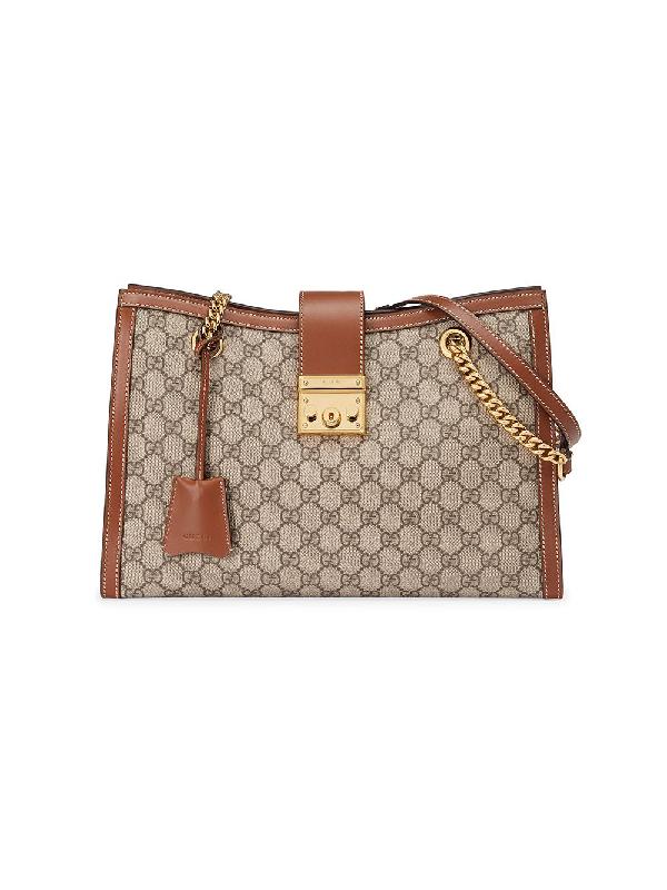 Gucci Padlock Shoulder Bag In Brown