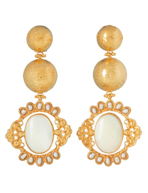 Christie Nicolaides Paloma Earrings Pearl In White