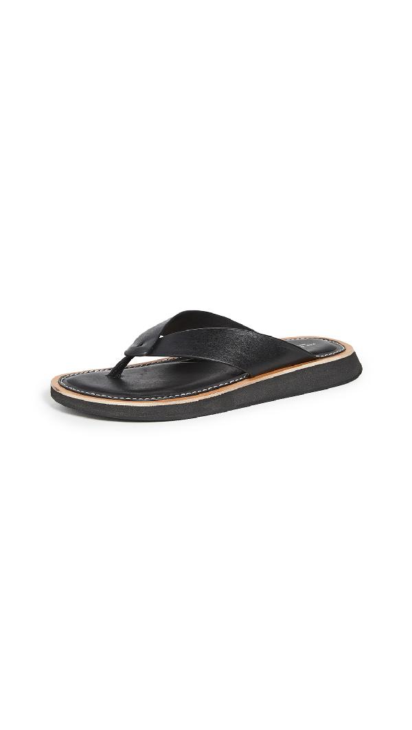 Rag & Bone Parker Thong Sandals In Black