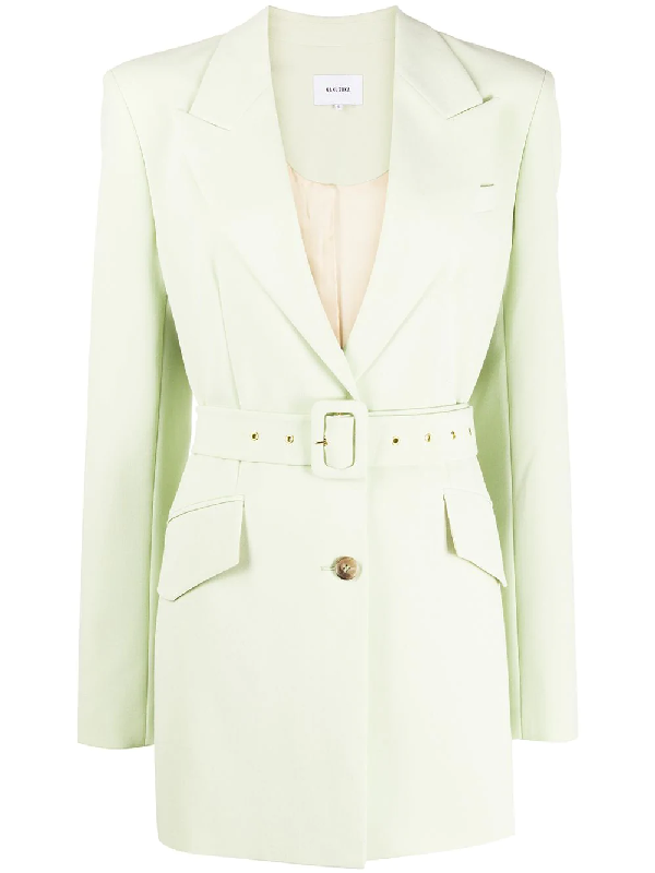 Nanushka Honor Belted Blazer In Green