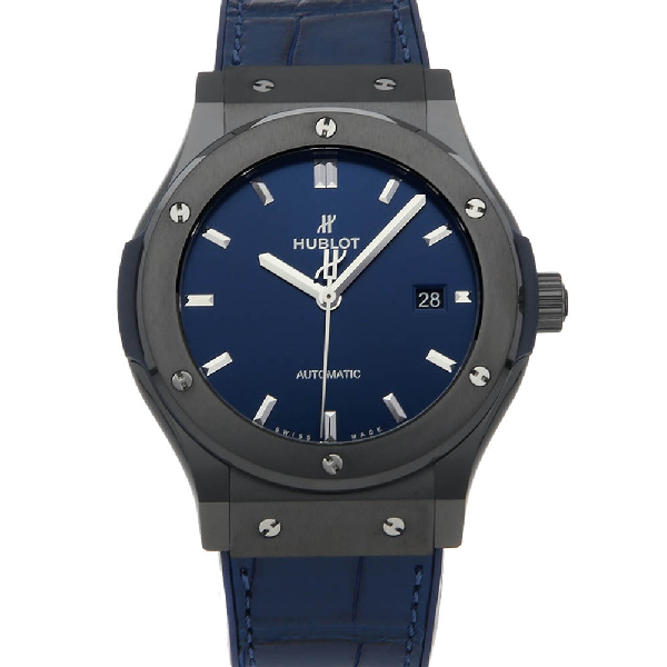 Hublot Blue Ceramic Classic Fusion 542.cm.7170.lr Men's Wristwatch 42 Mm
