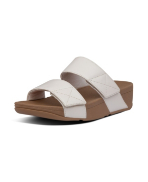 Fitflop Women's Mina Leather Slides Sandal Women's Shoes In Stone