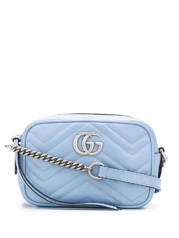 Gucci Mini 'gg Marmont' UmhÄngetasche In Blue