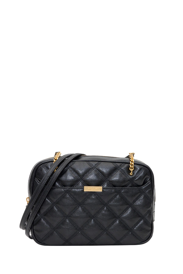 Saint Laurent Quilted Becky Camera Bag In Black