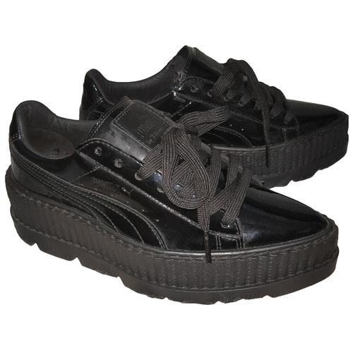 Fenty X Puma Black Patent Leather Trainers