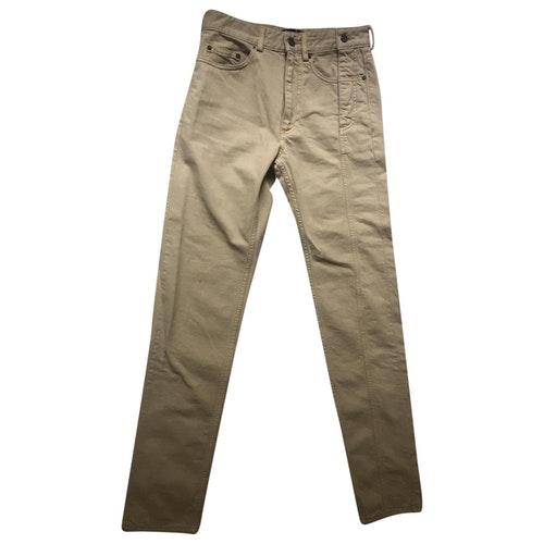 Y/project Beige Cotton Jeans