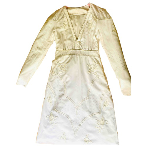 Vilshenko White Cotton Dress