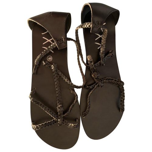 Swildens Black Glitter Sandals