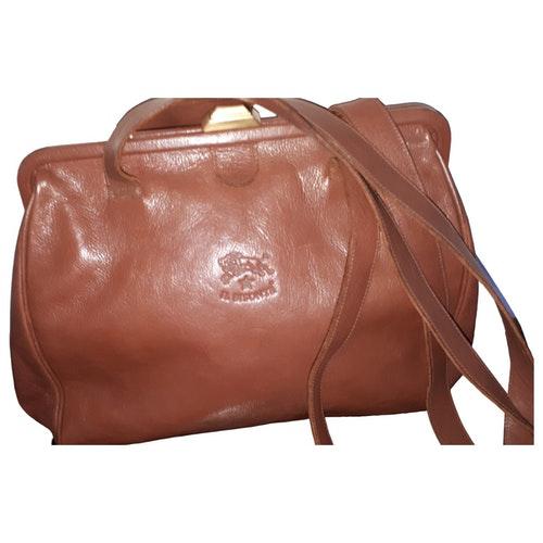 Il Bisonte Camel Leather Handbag