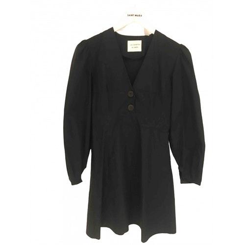 Les Coyotes De Paris Black Cotton Dress