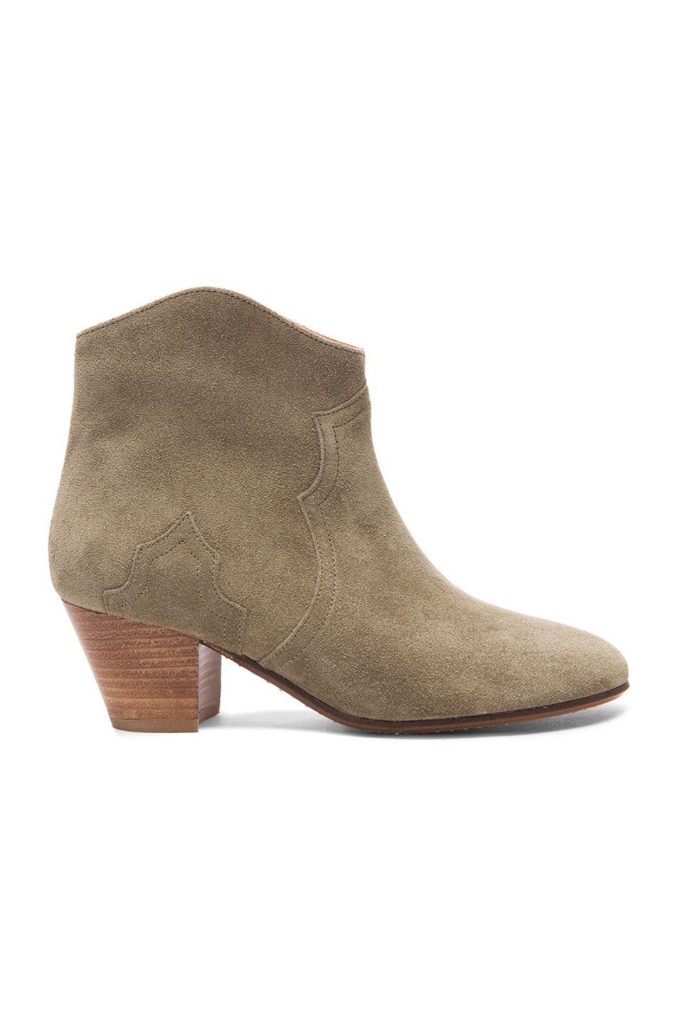 Isabel Marant Etoile 50mm Dicker Suede Ankle Boots, Taupe