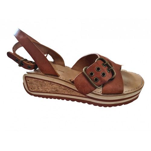 Isabel Marant Camel Leather Sandals
