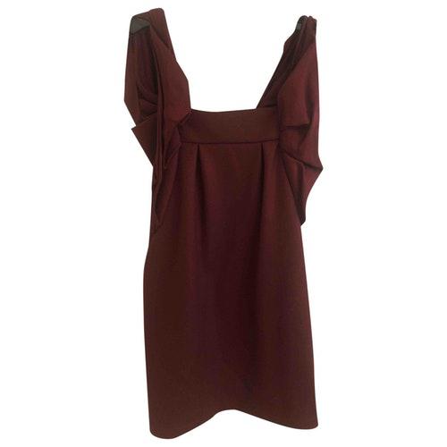 Vanessa Bruno Burgundy Wool Dress