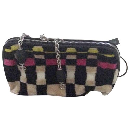 Bottega Veneta Multicolour Velvet Clutch Bag