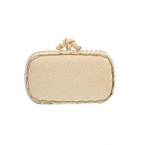 Bottega Veneta Ecru Python Clutch Bag
