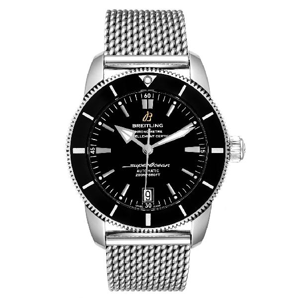 Breitling Superocean Heritage Ii 42 Steel Mens Watch Ab2010 Box Papers In Black