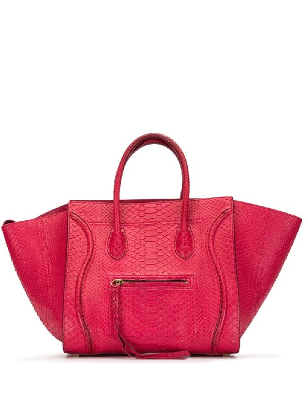 Celine Medium Phantom Luggage Tote In Pink