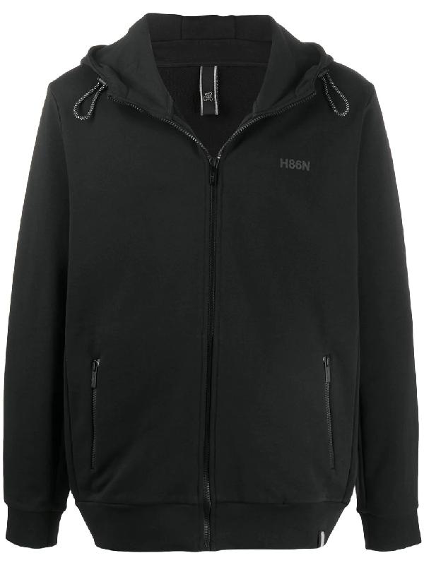 Hogan Long Sleeve Hoodie In Black