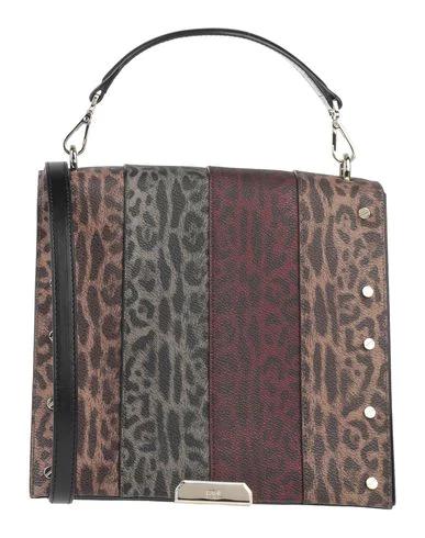 Cavalli Class Handbag In Dark Brown