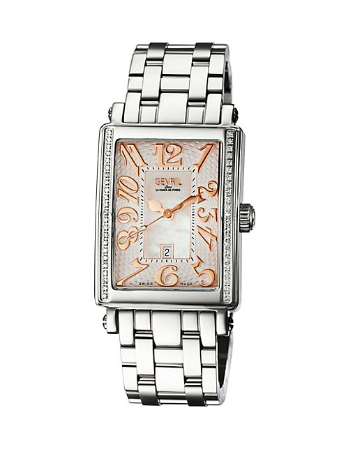Gevril Mezzo Mother-of-pearl Stainless Steel Bracelet Watch