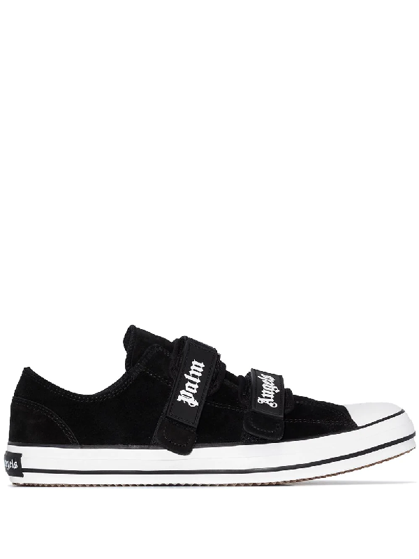 Palm Angels Men's Shoes Suede Trainers Sneakers Vulcanized In Black